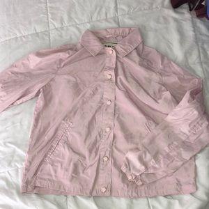 baby pink garage jacket